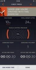 Рисунок 6 Экран статистики после завершения упражнения